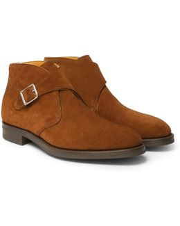 Ravenstone Suede Monk-strap Boots