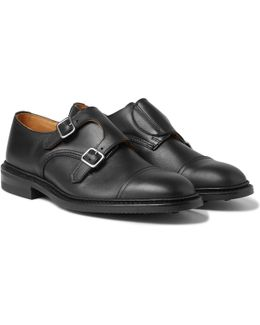 Rufus Cap-toe Leather Monk-strap Shoes