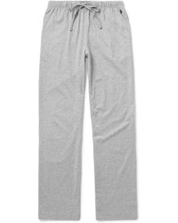 Mélange Cotton-jersey Pyjama Trousers