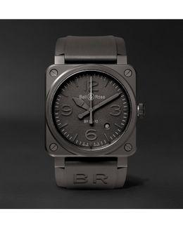 Br 03-92 Phantom 42mm Ceramic And Rubber Watch