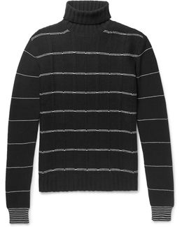 Striped Wool And Cashmere-blend Rollneck Sweater