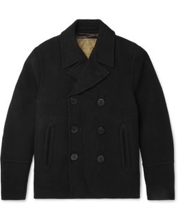 Wool And Cashmere-blend Peacoat With Detachable Quilted Cotton Gilet