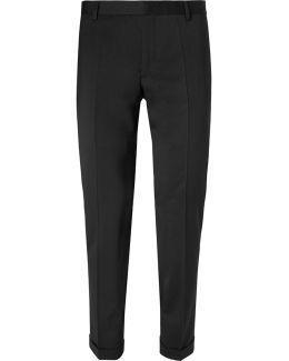 Slim-fit Stretch Wool Blend-gabardine Trousers