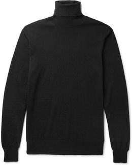 Wool And Silk-blend Rollneck Sweater