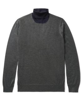 Cashmere And Silk-blend Rollneck Sweater