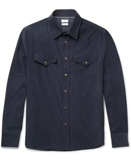 Cotton-corduroy Western Shirt