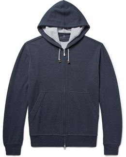 Cotton-blend Jersey Zip-up Hoodie