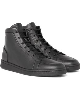 Urban High Textured-leather High-top Sneakers