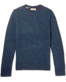 Donegal Mélange Wool, Cashmere And Mohair-blend Sweater