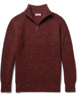 Boatbuilder Slim-fit Merino Wool And Cashmere-blend Half-zip Sweater