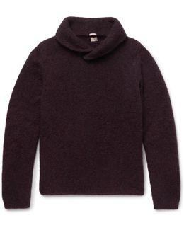 Shawl-collar Alpaca-blend Sweater