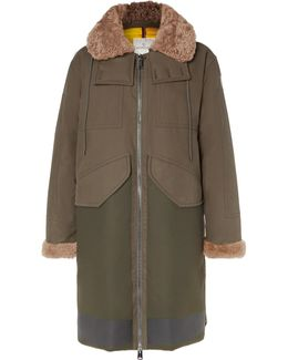 Garcia Shearling-trimmed Cotton-twill And Wool-blend Hooded Down Parka
