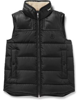 Millais Leather-trimmed Quilted Shell Down Jacket