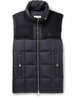 Cesar Wool-trimmed Quilted Shell Down Gilet