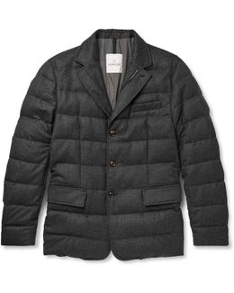 Rodin Quilted Wool-flannel Down Jacket