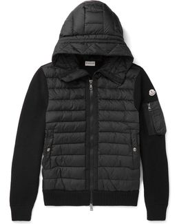 Maglione Wool-blend And Quilted Shell Hooded Down Jacket