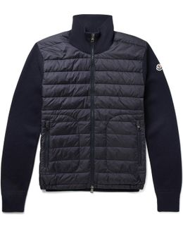 Slim-fit Panelled Wool-blend And Quilted Shell Down Jacket