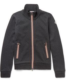 Fleece-back Cotton-jersey Zip-up Sweatshirt