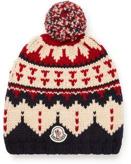 Fair Isle Virgin Wool Bobble Hat