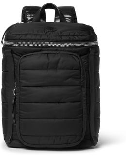 New Yannick Leather-trimmed Quilted Nylon Backpack