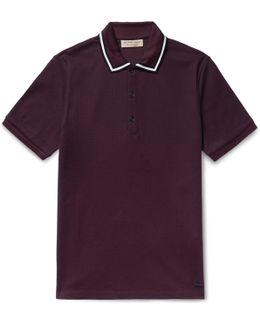 Slim-fit Contrast-tipped Cotton-piqué Polo Shirt