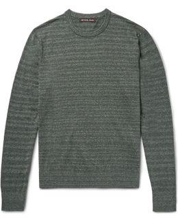 Striped Mélange Cotton Sweater