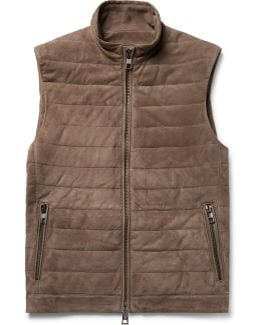 Quilted Suede Gilet