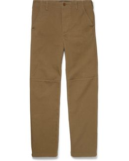 Panelled Cotton-twill Trousers