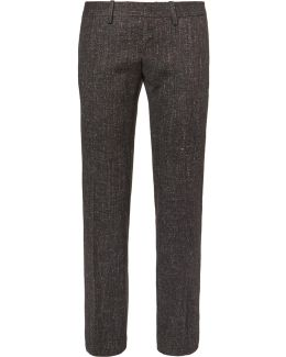 Slim-fit Wool-blend Tweed Trousers