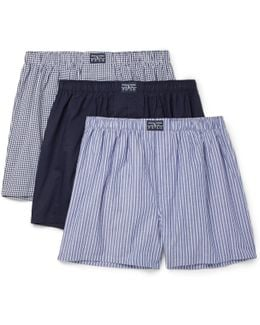 Three-pack Cotton Boxer Shorts