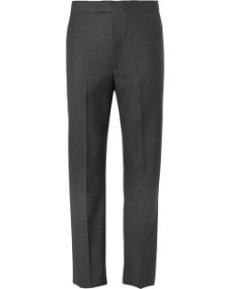 Grey Textured-wool Suit Trousers