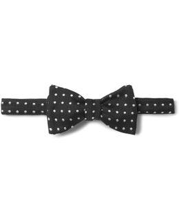 Polka-dot Silk-jacquard Bow Tie
