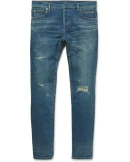Skinny-fit Distressed Denim Jeans
