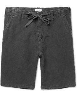 Slub Linen Drawstring Shorts