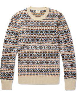 Fair Isle Wool, Mohair And Silk-blend Sweater