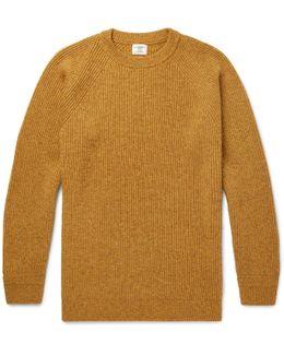 Ribbed Mélange Camel Hair Sweater
