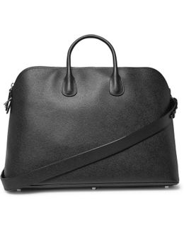 My Logo Pebble-grain Leather Holdall