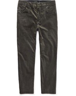 Cotton-blend Velvet Trousers