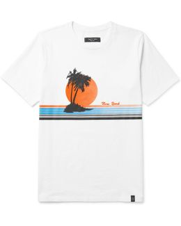 Vacation Printed Cotton-jersey T-shirt