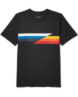 Glitch Slim-fit Printed Cotton-jersey T-shirt