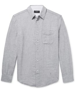Beach Slim-fit Slub Cotton Shirt