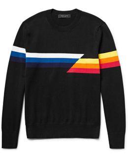 Glitch Intarsia Cotton Sweater