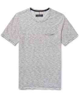 Owen Slim-fit Space-dyed Cotton And Linen-blend T-shirt