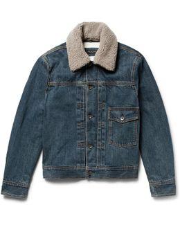 Bartack Shearling-lined Denim Jacket