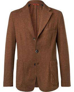 Unstructured Wool-blend Blazer