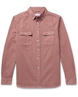 Angus Button-down Collar Broken Cotton-twill Shirt