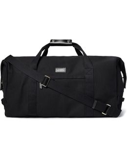 Norfolk Leather-trimmed Cotton-canvas Holdall