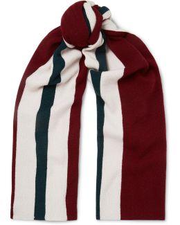 Ninos Striped Wool Scarf