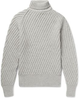 Cashmere And Wool-blend Rollneck Sweater
