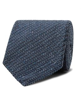 8cm Mélange Silk And Wool-blend Tie